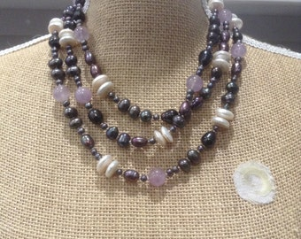 Sale pearl and amethyst necklace
