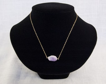 Gold Chain and Amethyst Necklace