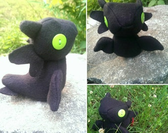 Squishy Toothless Dragon inspired Doll, Plushies, Handmade and Unique Gift for Kids of all ages, Night Fury, Nightfury, HTTYD, Cute Kawaii