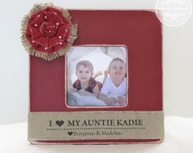 Aunt Christmas Gift Personalized Picture Frame Aunt Auntie Uncle from Niece Nephew Holiday Christmas