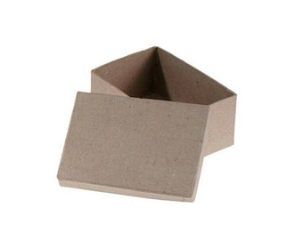 Rectangle Paper Mache Cardboard Box - 4.75 x 3 Inch - Craft Gift Wrap Packaging Party Supplies