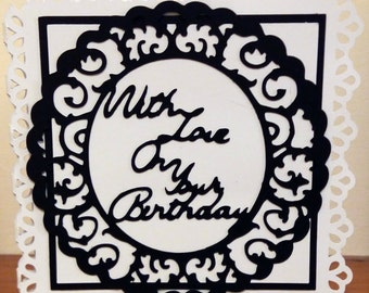 """Handmade 6""""x 6"""" Size With Love On Your Birthday Card"""