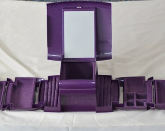 The Jewel Kit Fold out Jewelry Box Purple