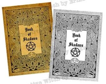 Book of shadows, digital book cover printable
