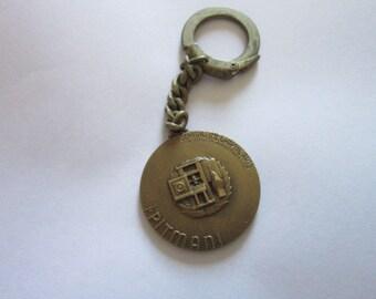 1956 Bronze Pitman Graphic Arts Medal Key Chain