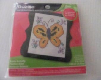BUTTERFLY CROSS STITCH Kit/Bucilla Counted Cross Stitch Kit/