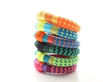 Nautical Rope Stackable ParaGlam Orginal Wrap Bangles
