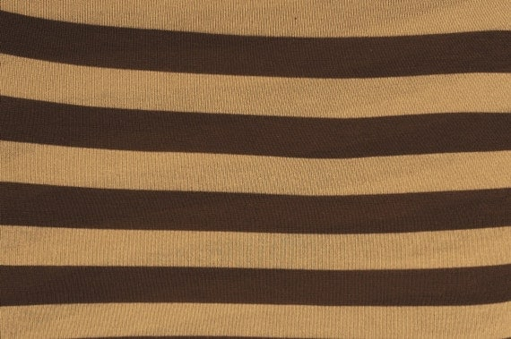 Sweater Knit Brown Khaki Stripe Knit Fabric By The Yard