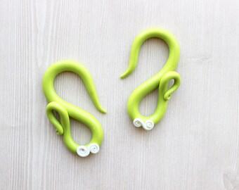 Lime Green and Ivory Gauges - Og Only