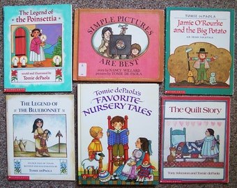Tomie dePaola Book Collection of 12  - Legend of Bluebonnet, Simple Pictures, Jamie O'Rourke, Alice Nizzy Nazzy - Childrens Book Lot