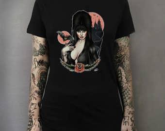 Elvira Tattoo Art T-shirt