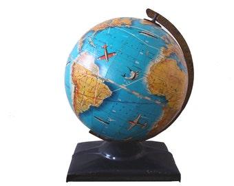 SALE - Retro Replogle Children's Learning World Globe - Circa 1947 - TREASURY PICK