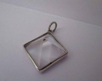 Handmade Crystal Quartz Pyramid Pendant in Sterling Silver