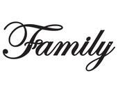 Family Metal Sign - Black, 18x8, Metal Wall Art, Metal Wall Decor, Sign, Signage, Wall Hanging, Script, Wall Art