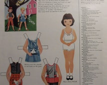BETSY McCALL Goes To The Country  Uncut Original 1950s Betsy McCall Paper Doll Vintage McCalls Magazine Additional Pages Ship Free