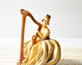 Vintage Italian Harpist - Made in Italy
