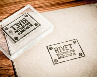 Custom Acrylic Rubber Stamp - 3 x 4 Inches