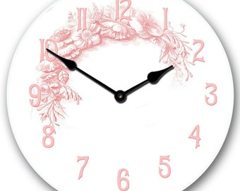 Shabby Chic Pink Wall Clock