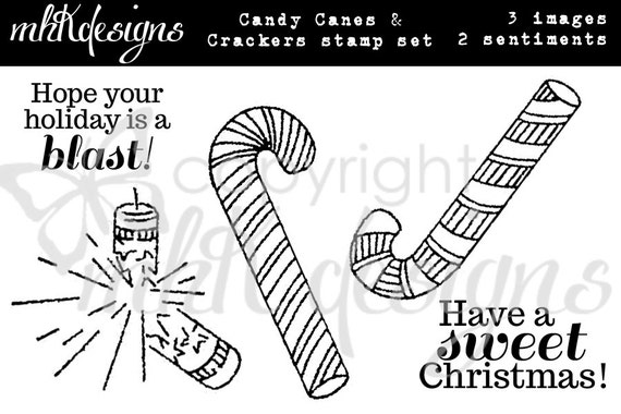 Candy Canes & Crackers Digital Stamp Set