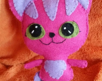 The Cheshire Cat Alice in Wonderland felt plushie plush
