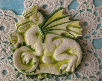 Green Dragon Teabag Holder, Spoon Rest or Trinket Dish