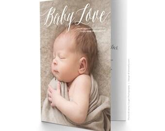 Photography Marketing Promo Card - Folded Promo Card - 5x7 - Newborn Photographer - 1499