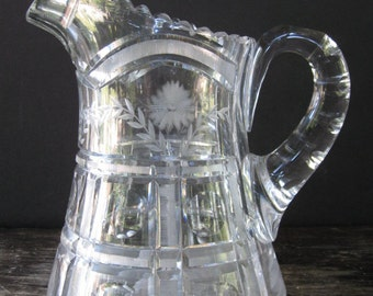 SALE Heavy EAPG Pitcher