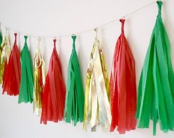 Holiday Tissue Tassel Garland - One Stylish Party