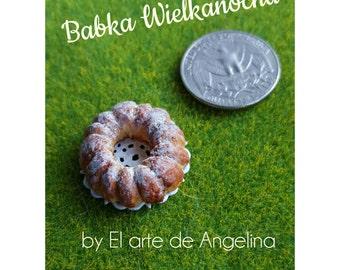 Easter around the world - Eastern Europe | Babka wielkanocna | 1 12 dollhouse miniature easter | Miniatures | Food art | Easter