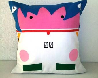 Rei Ayanami Evangelion Cushion cover Pillow Anime Manga Cotton 40x40 cm 16x16 inches