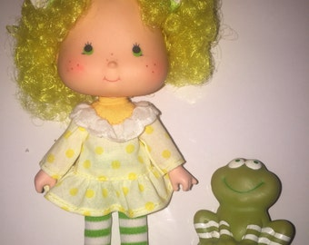 Vintage 1979-1980 Strawberry Shortcake Lemon Meringue with pet Frog