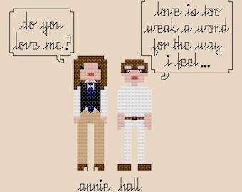 Annie Hall Cross Stitch Pattern INSTANT DOWNLOAD