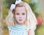 Pastel portrait of a girl