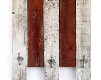 Multi-Colored Reclaimed Wood Boards with Hooks