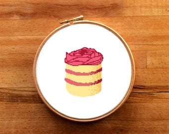 Victoria Cupcake cross stitch pattern modern cross stitich PDF pattern instant download counted corss stitich chart cupcake cross stitich