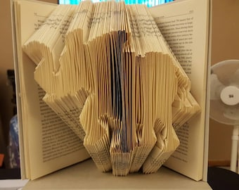 Folded Book Art - Elephant - made to order