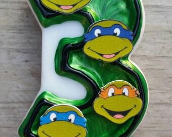 Ninja Turtle Birthday Candle