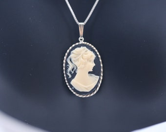 Cameo Necklace on 925 Sterling Silver