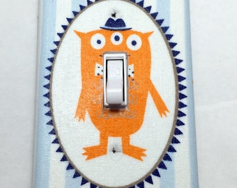 Monsters Light Switch Plate Cover / Outlet Cover / Cartoon Animals / Home Decor / Baby Shower Gift / Nursery Decor / Kid's Room / Characters
