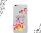 Water Color Heart Dog Paw Quote TPU Phone Case Back Cover Protection for iPhone and Galaxy Devices UV0274