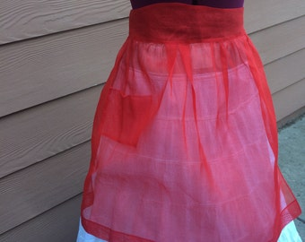 Cute vintage apron and matching 50's style hair scarf