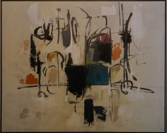 "Large Original  Abstract Painting  ""Manhatten"""