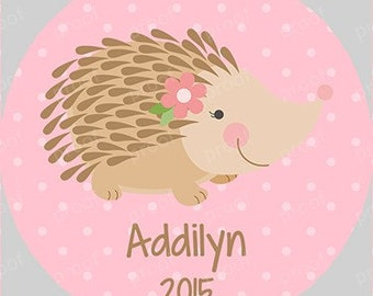 Personalized Hedgehog Christmas Acrylic Ornament