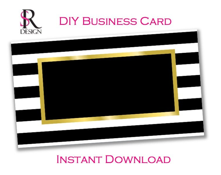 DIY Business Card Template Instant Download