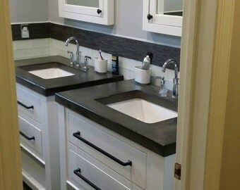 Painted vanity with concrete top