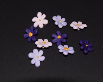 Scrapbook craft embellishment buttons spring flowers daisies 9 count
