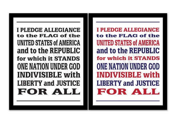 Classroom Decor Usa ~ Pledge of allegiance th july decor patriotic printable