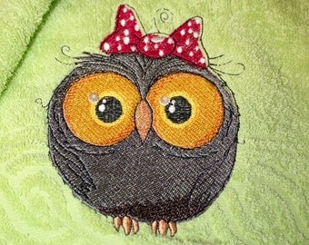 "Terry towel ""OWL"""