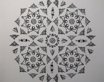 Funky skull print
