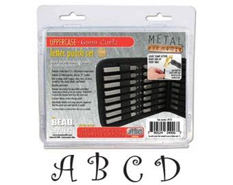 The Beadsmith Curlz Font 6mm | Metal Stamping Font | Alphabet Letter Set | Monogram Stamping Font